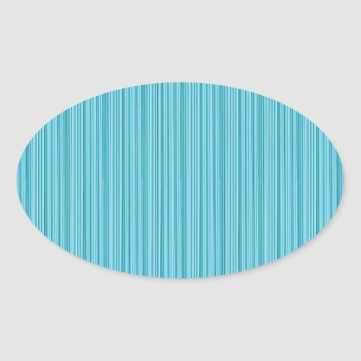 Elegant BLUE Stripe Groove Art: Add dark GREETINGS Oval Stickers