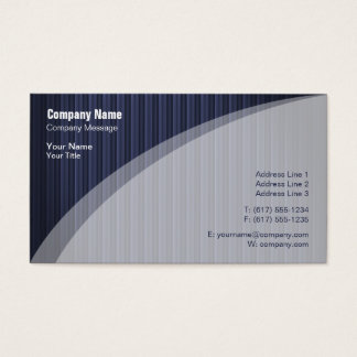 Elegant Blue Striped Business Card
