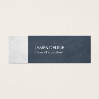 Elegant Blue Textured Financial Consultant Mini Business Card