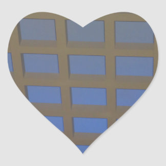 Elegant Blue Tilted Window Pane Graphic Art GIFTS Heart Stickers