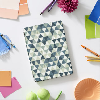 Elegant Blue Triangle Pattern | Ipad Air Case iPad Air Cover