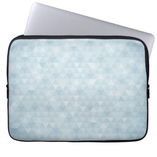 Elegant Blue Triangles Computer Sleeve