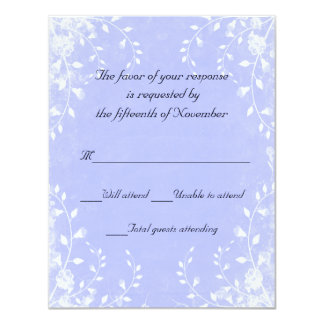 Elegant Blue Wedding Response Card