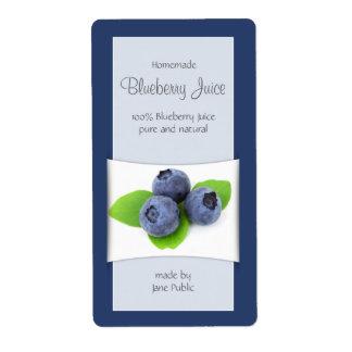 Elegant Blueberry Juice or Jam Shipping Label