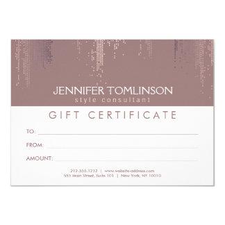 Elegant Blush Confetti Dots Gift Certificate 11 Cm X 16 Cm Invitation Card