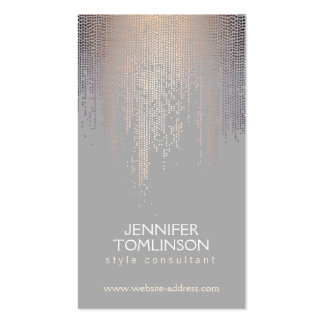 Elegant Blush Confetti Dots on Light Gray Pack Of Standard Business Cards