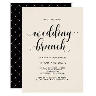 Elegant Blush Post Wedding Brunch Invitation