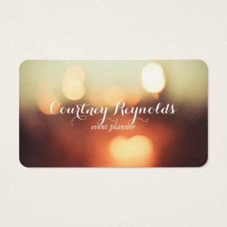Elegant Bokeh Lights Business Card ll