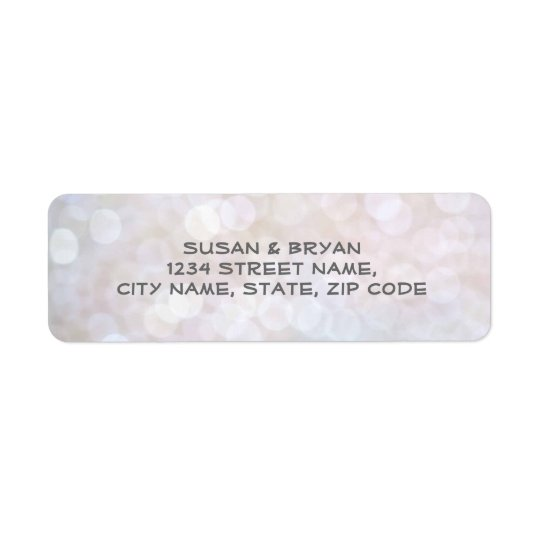 Elegant Bokeh Wedding Address Label