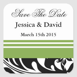 Elegant Bold Floral Save The Date Stickers