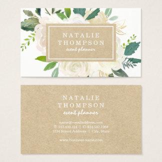 Elegant Botanical Floral Business Card