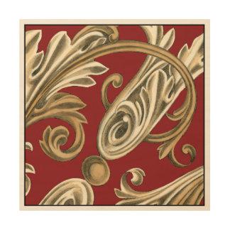 Elegant Botanical Motif with Tan Foliage Wood Wall Decor
