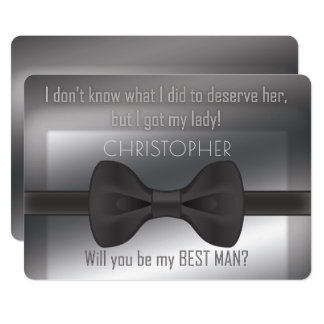 Elegant Bowtie Will You Be My Best Man Card