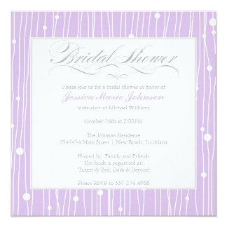 Elegant Bridal Shower 13 Cm X 13 Cm Square Invitation Card