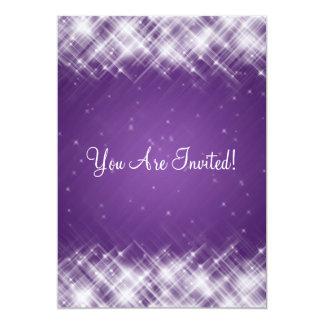 Elegant Bridal Shower Glamorous Sparks Purple 13 Cm X 18 Cm Invitation Card