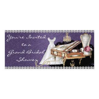 "Elegant Bridal Shower Invitation 4"" X 9.25"" Invitation Card"