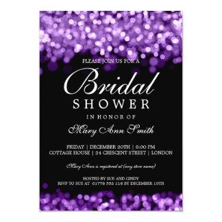 Elegant Bridal Shower Purple Lights 13 Cm X 18 Cm Invitation Card