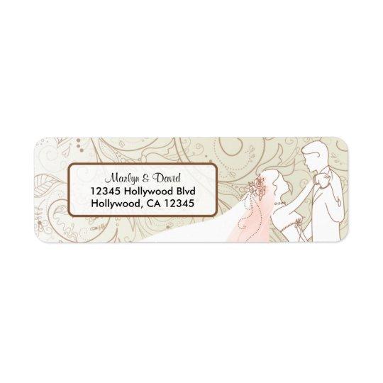 Elegant Bride and Groom Return Address Label