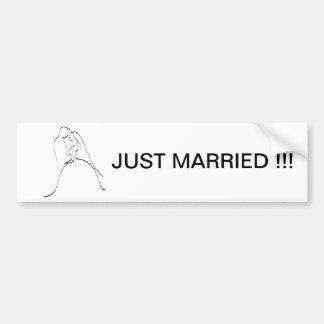 Elegant Bride and Groom Silhouette Template Bumper Sticker
