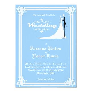 Elegant Bride and Groom Wedding Invitation