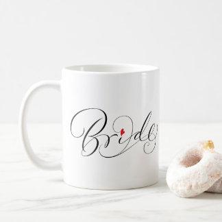 Elegant Bride Calligraphy Fancy Script Lettering Coffee Mug