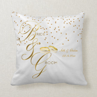 Elegant Bride & Groom Keepsake | Personalize Cushion