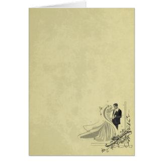 Elegant Bride & Groom Wedding Card