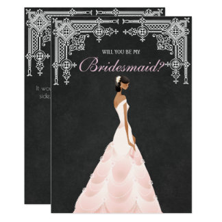 Elegant Bride Will You Be My Bridesmaid Card