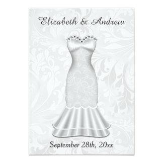 Elegant Brides Wedding Gown 13 Cm X 18 Cm Invitation Card