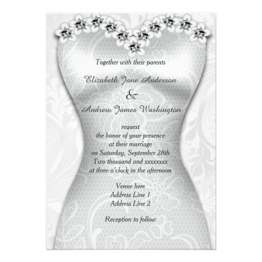 Elegant Brides Wedding Gown Personalized Announcement