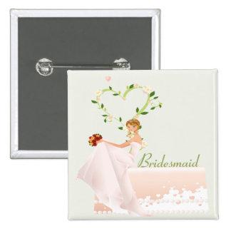 Elegant Bridesmaid Button