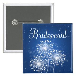 Elegant Bridesmaid Favor Summer Sparkle Sapphire 15 Cm Square Badge