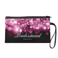 Elegant Bridesmaid Favour Sparkling Lights Pink