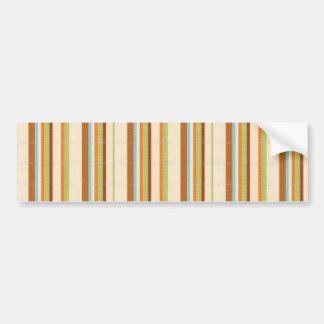 Elegant Bright Fabric Stripe Print Car Bumper Sticker