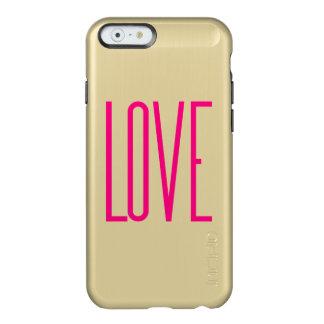 Elegant Bright Pink Love Incipio Feather® Shine iPhone 6 Case
