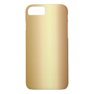 Elegant Bronze Metal Look iPhone 7 case