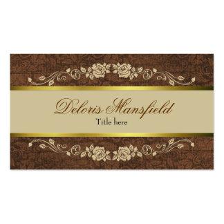 Elegant Brown and Tan Business Card