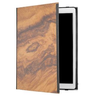 "Elegant Brown Faux Wood iPad Pro 12.9"" Case"