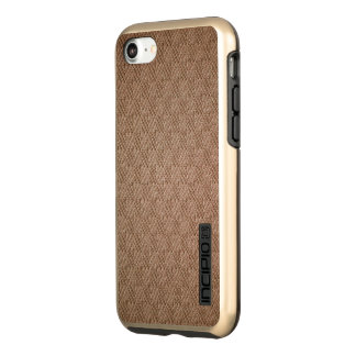 Elegant Brown Knit Autumn Gold Incipio DualPro Shine iPhone 8/7 Case