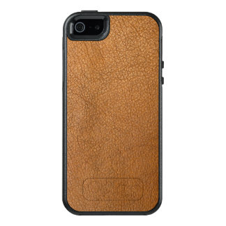 Elegant Brown Leather Style Design OtterBox iPhone 5/5s/SE Case
