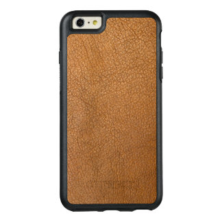 Elegant Brown Leather Style Design OtterBox iPhone 6/6s Plus Case