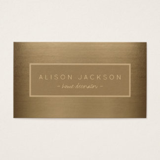 Elegant brushed copper metallic look professional business card