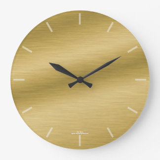 Elegant Brushed Gold Look Clock