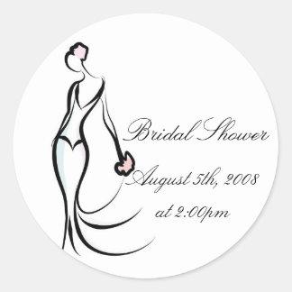 Elegant Brushstroke Bride Stickers
