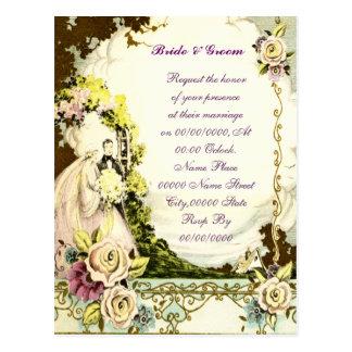 elegant budget wedding invitation, postcard