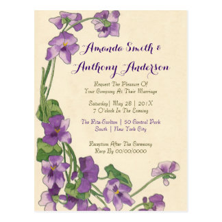 Elegant Budget Wedding Invitations Postcard