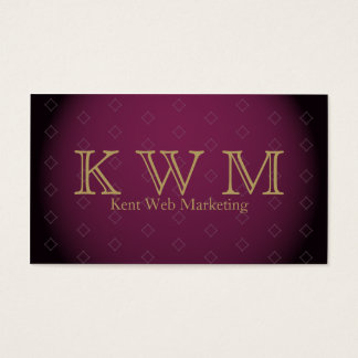 Elegant Burgundy with Gold Text Business Card