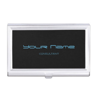 Elegant Business Card Holder (Black)
