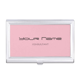 Elegant Business Card Holder (Pink)