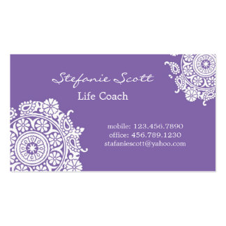 Elegant Business Card in Purple and White